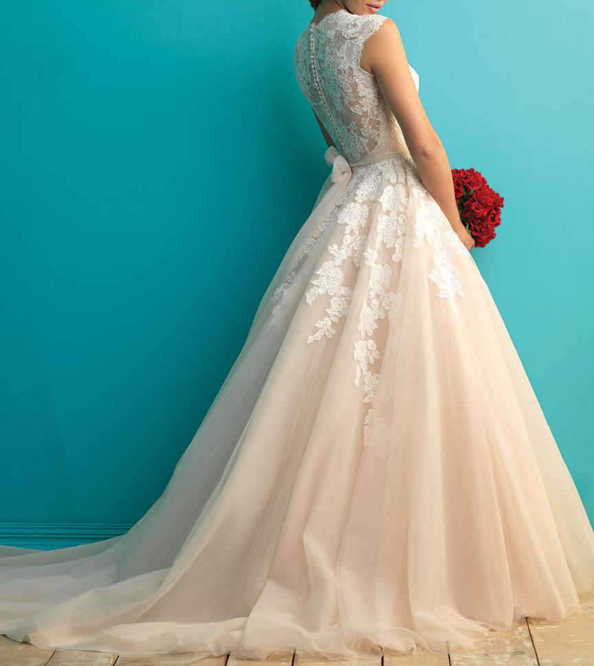 2016 Wedding Dress,Marvelous Wedding Dress,Tulle Wedding Dress,Jewel ...
