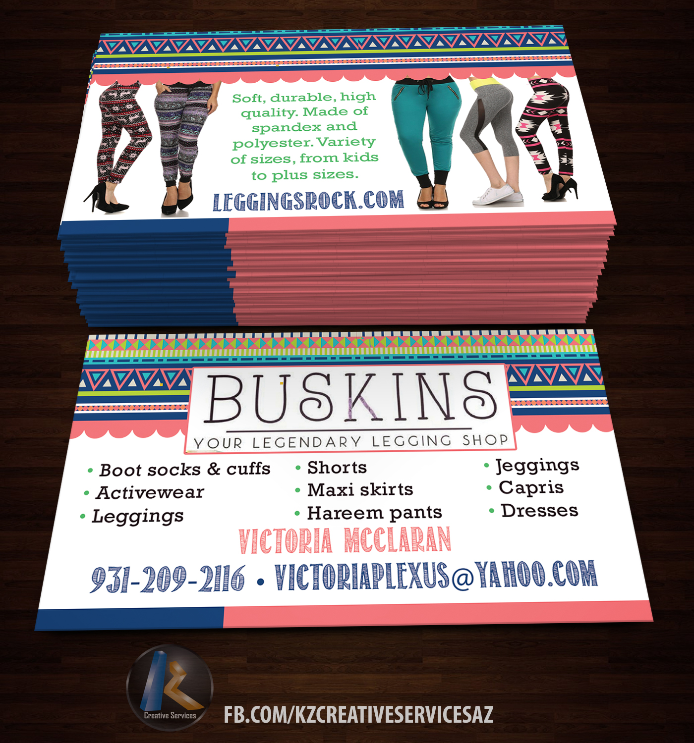 BUSKINS Business Cards style 1 · KZ Creative Services · Online ...