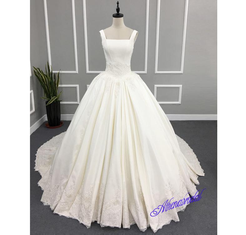 Off shoulder wedding dress, strapless wedding dress, ball gown ...