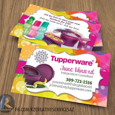 Tupperware business cards style 5 kz creative services for Tupperware business card templates