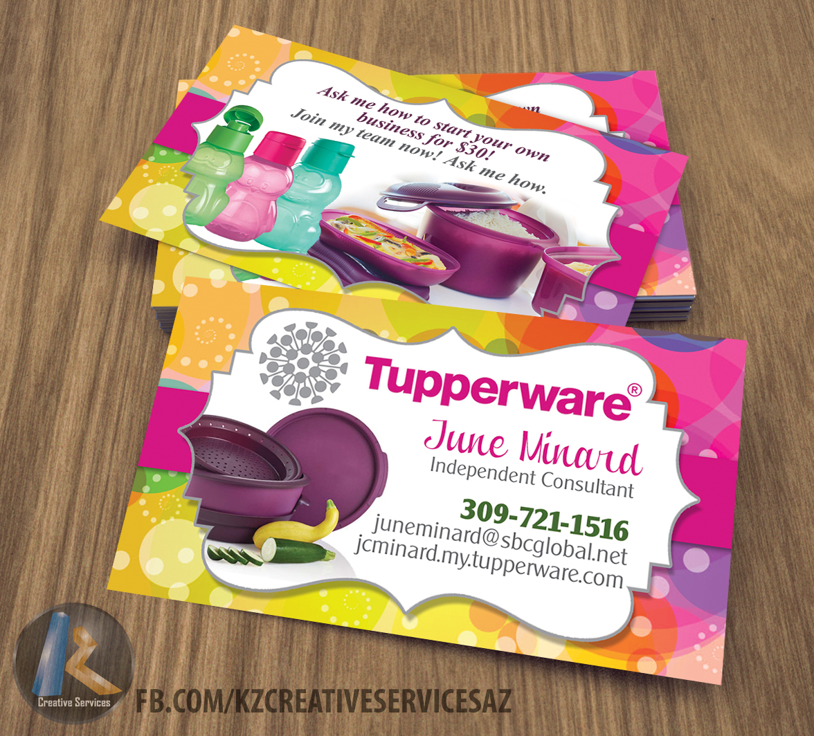 tupperware business cards style 3 - Tupperware Business Cards