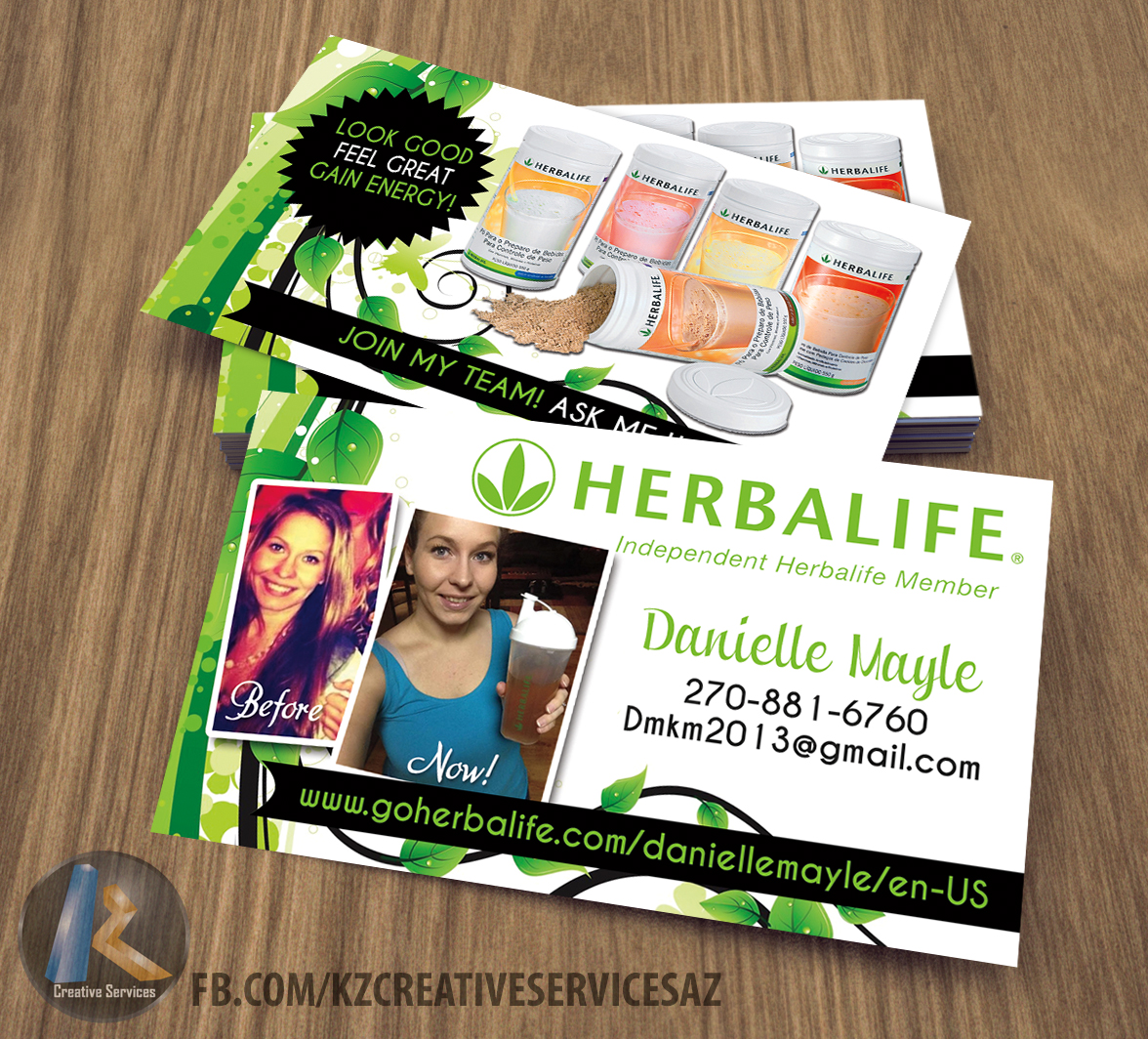 herbalife business cards style 2 - Herbalife Business Cards