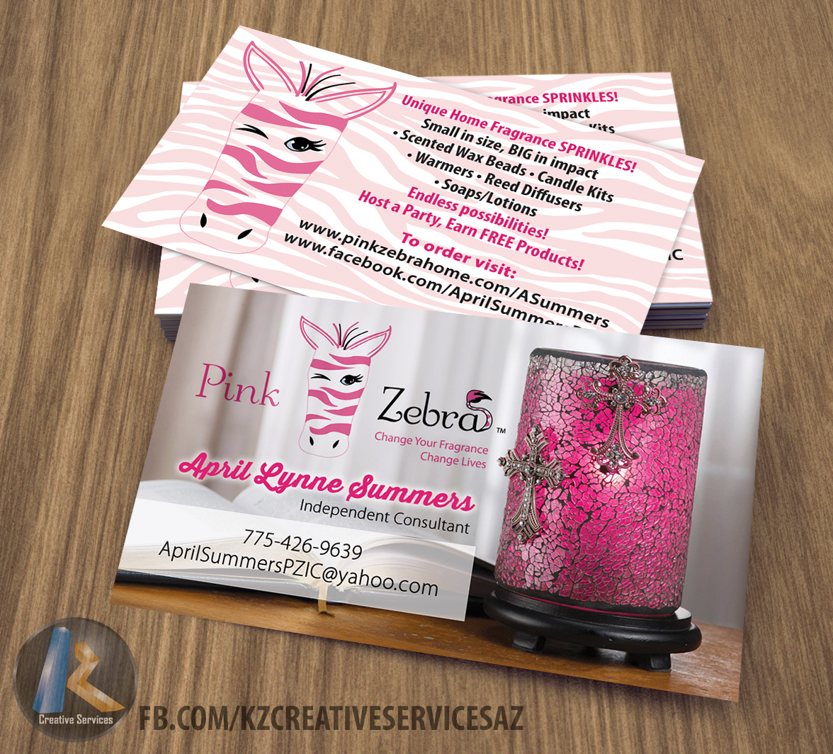 PINK ZEBRA business Cards style 2 · KZ Creative Services · Online ...