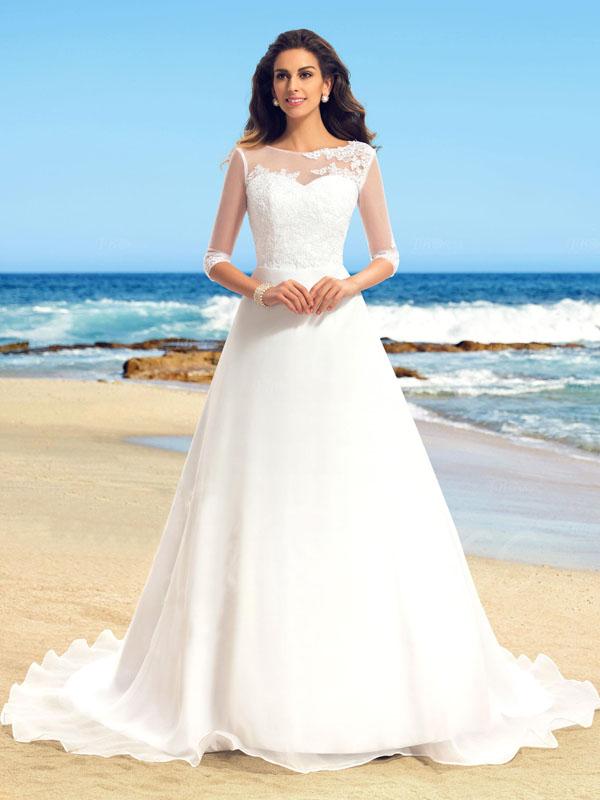 Long white wedding dresshalf sleeves wedding dresssimple scoop long white wedding dresshalf sleeves wedding dresssimple scoop wedding dresscheap junglespirit Choice Image