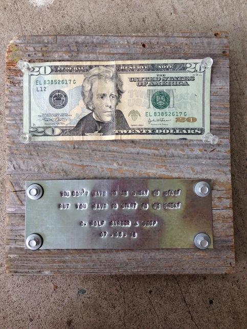 """First Dollar Made"" New Business Plaque · bijou. · Online ..."