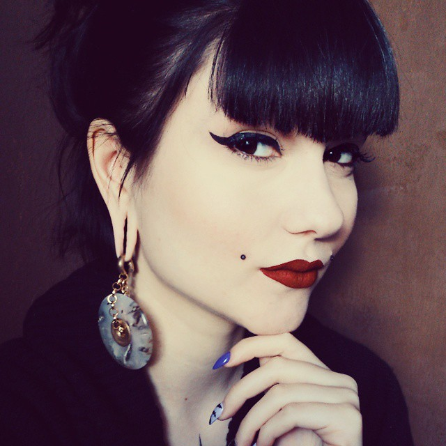 Decorative Ear Weights : Blue goldstone donut ear weights · dead face plugs