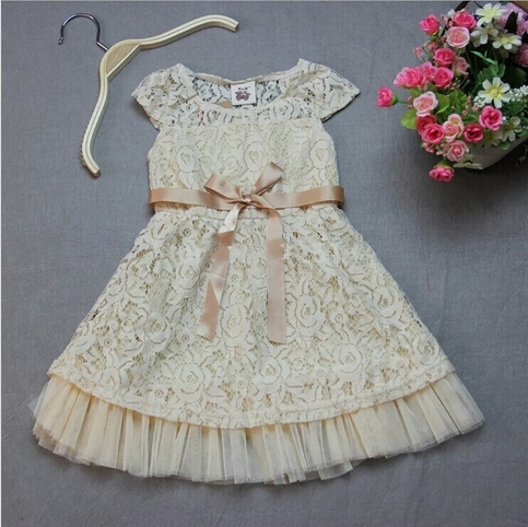 Girl Dress Lace Flower Girl Dress Rustic Flower Girl