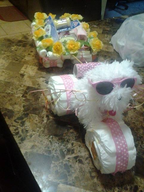 puppy tricycle pulling wagon diaper cake on storenvy