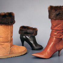 "Dark Brown Pelted Mink ""Faux Fur"" Boot Topper"