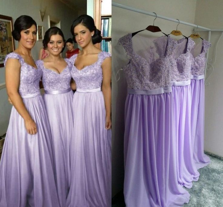 long bridesmaid dresses, lilac bridesmaid dress, lace bridesmaid ...