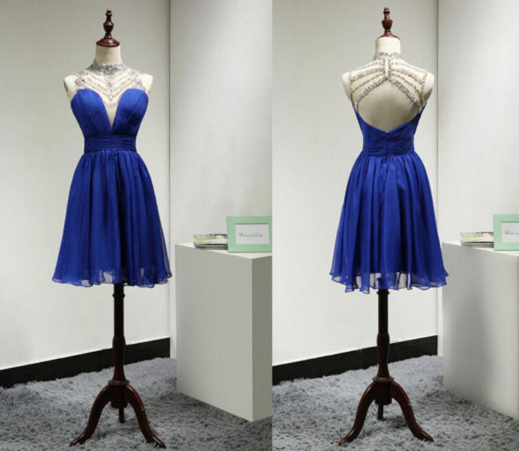 Homecoming Dress Short Prom Party Dress,Royal Blue Prom Dress,A Line ...