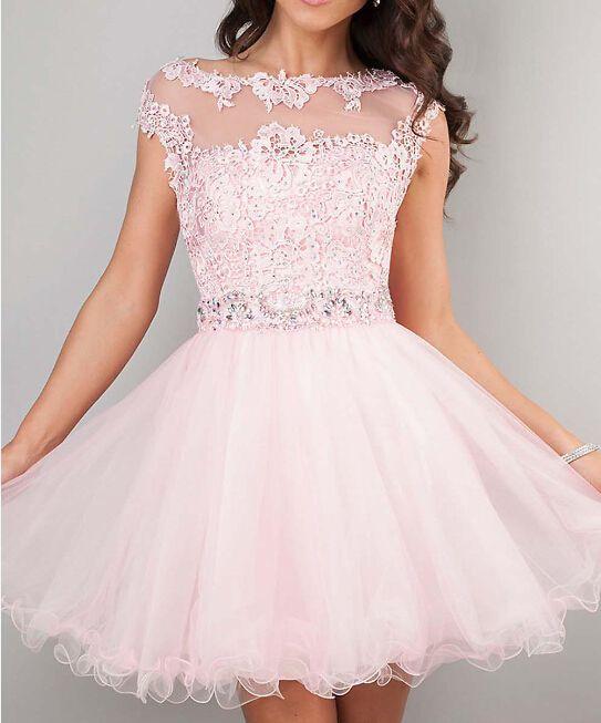 Pink Homecoming Dresses,Homecoming Dress, Cute Homecoming Dresses ...