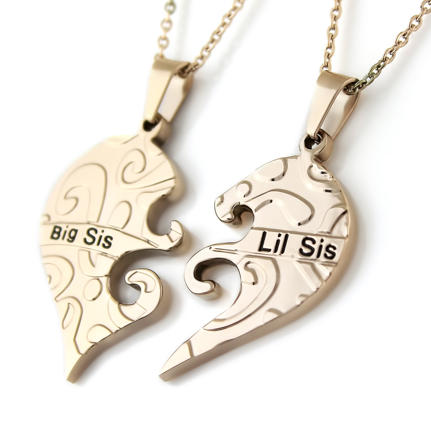 Tzaro Jewelry Big Sister Little Sister Necklace Infinity