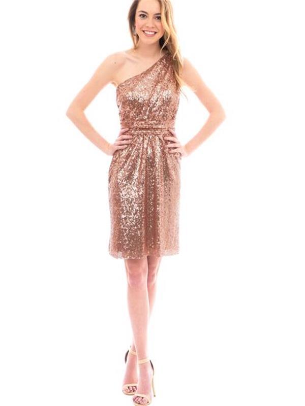Short sequin bridesmaid dresses, v-neck bridesmaid dresses, cheap ...