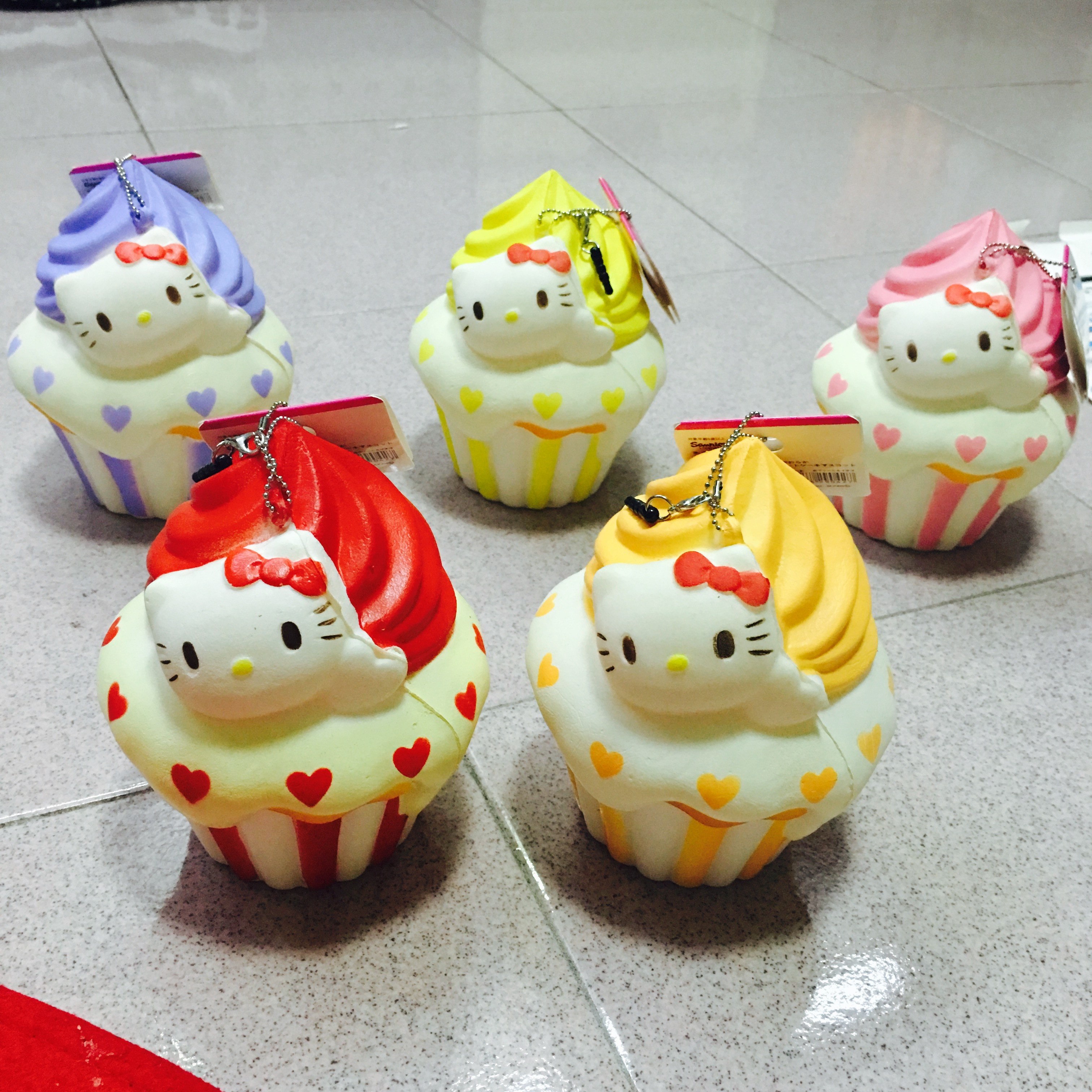 Squishy Collection Hello Kitty : ~SquishyStuff~ HUGE Cute Hello Kitty Colorful Cupcake Squishy Mascot Online Store Powered by ...