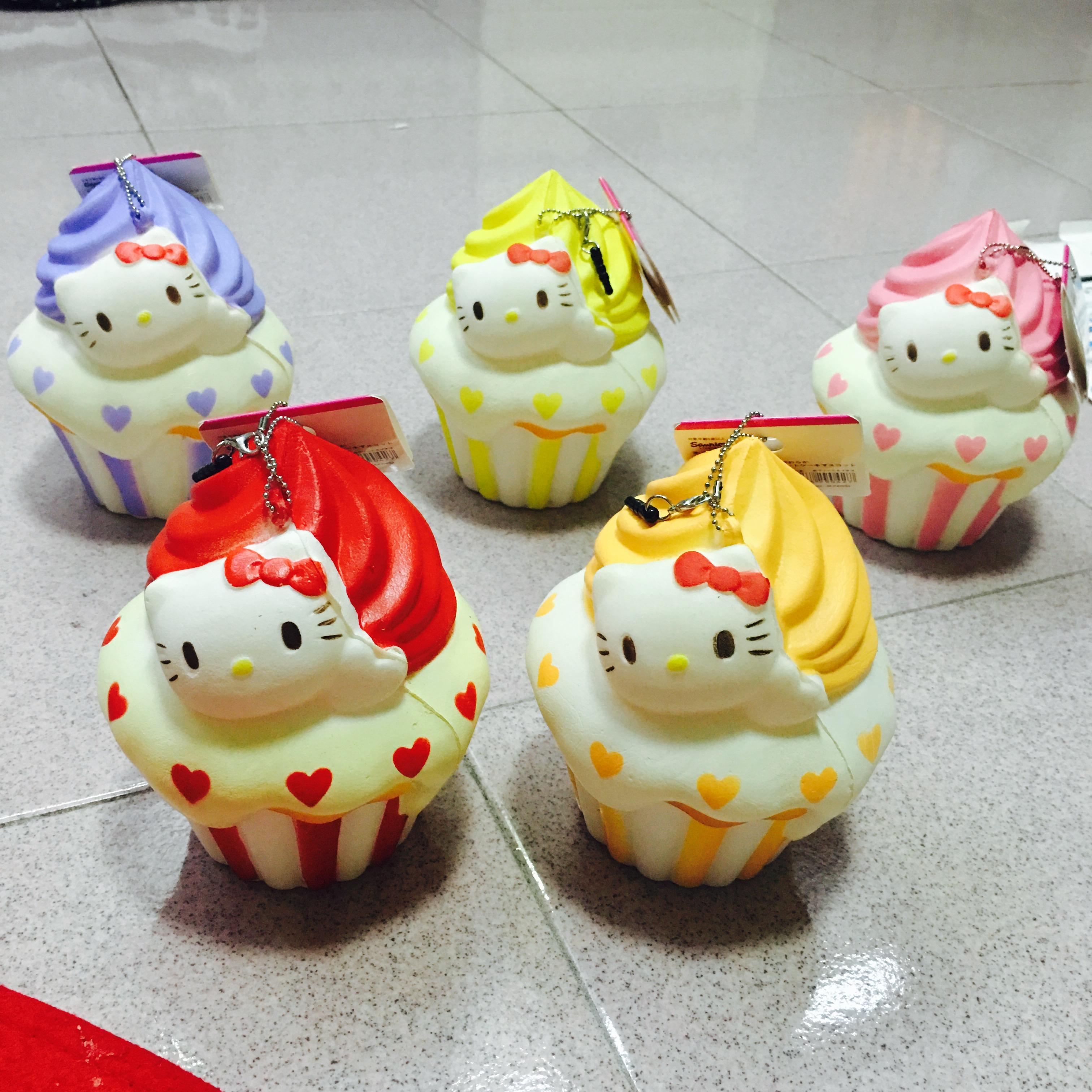 Squishy Cupcake : ~SquishyStuff~ HUGE Cute Hello Kitty Colorful Cupcake Squishy Mascot Online Store Powered by ...