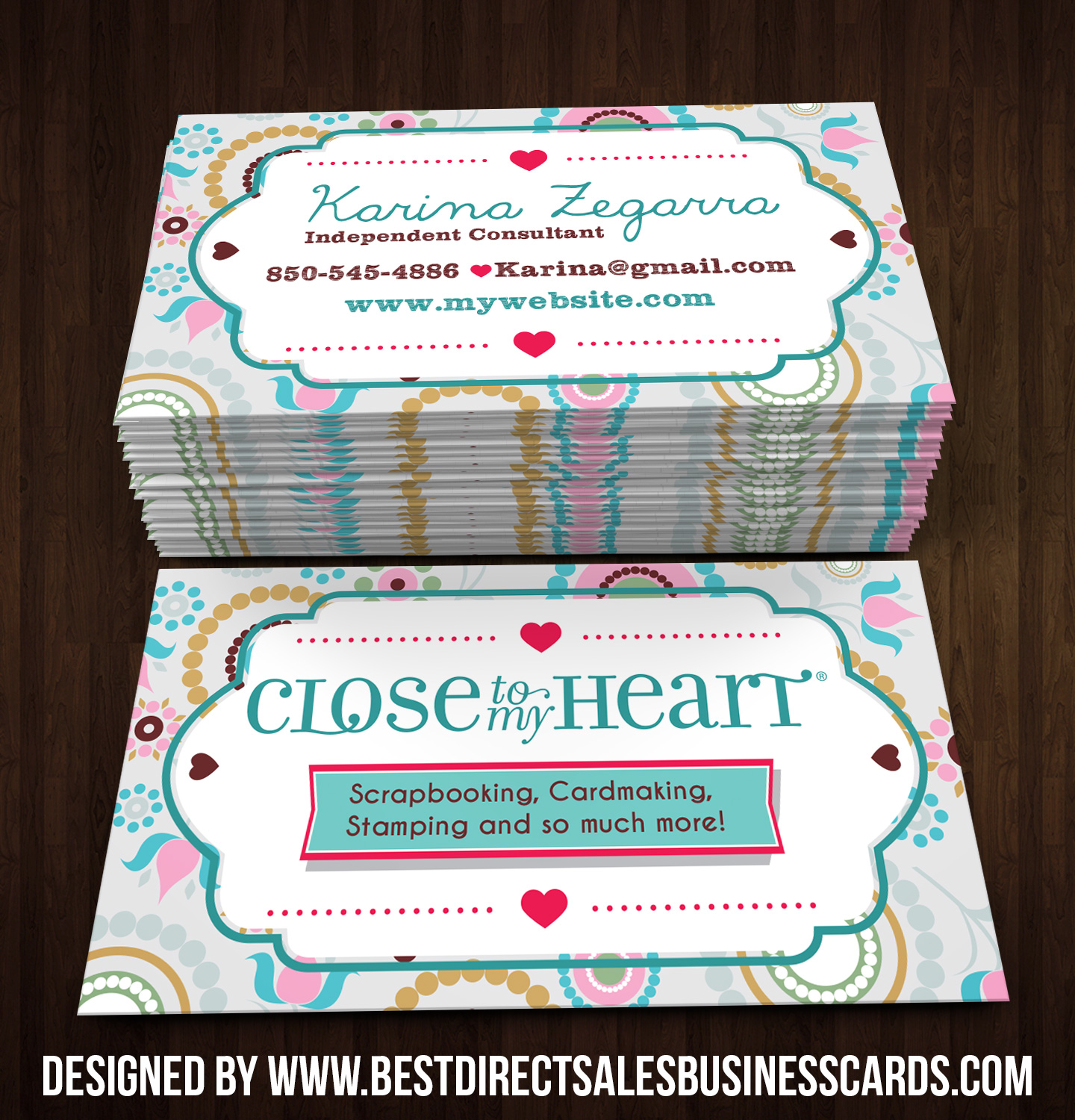 Close to my Heart Business Cards style 3 · KZ Creative Services