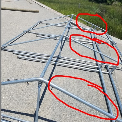 20x20 roof rafter replacement poles 8 total  sc 1 st  Todayu0027s Tec - Storenvy : tent repair parts - memphite.com