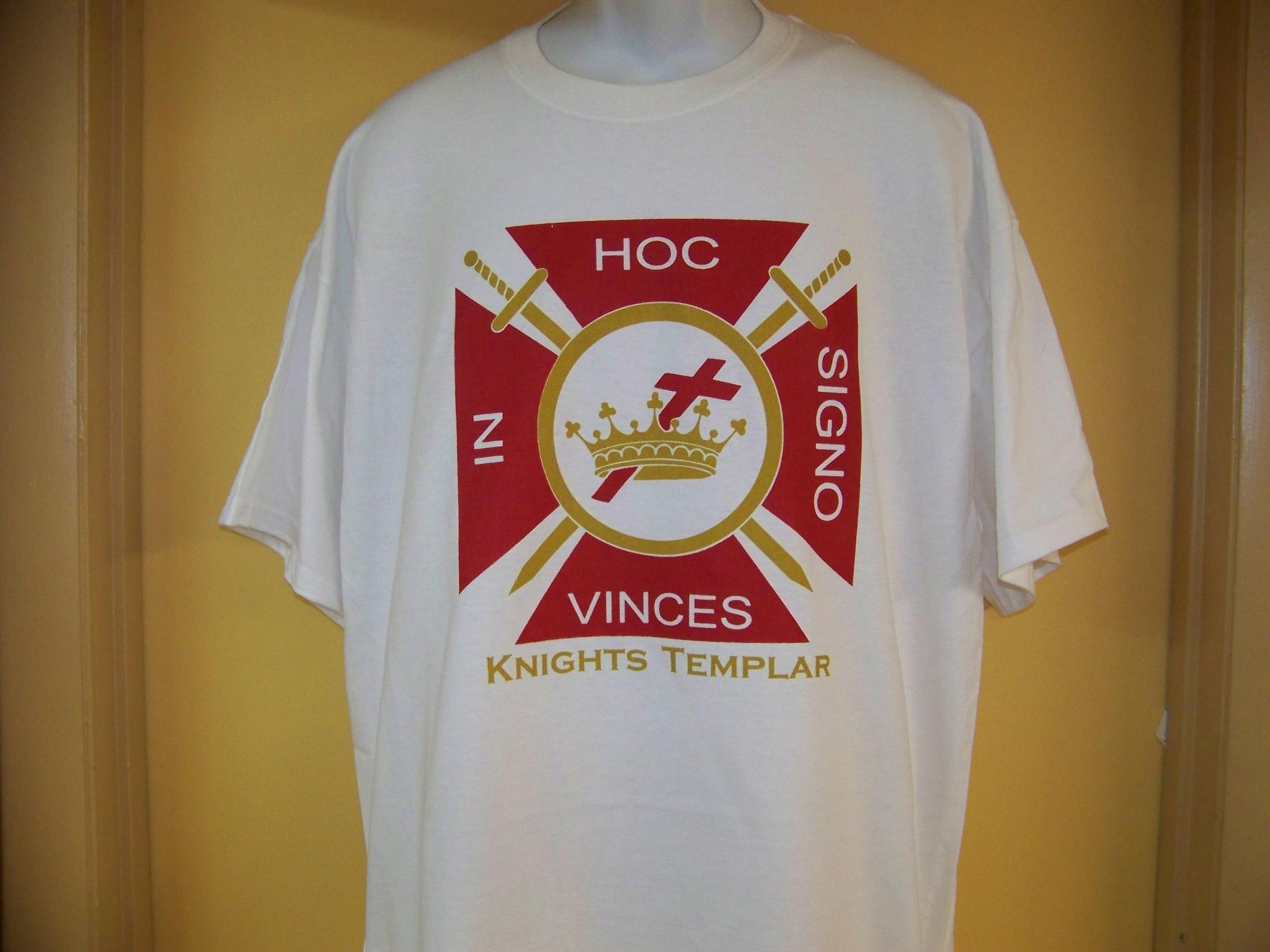 Knights Templar Symbols t Shirt Knights Templar White t Shirt