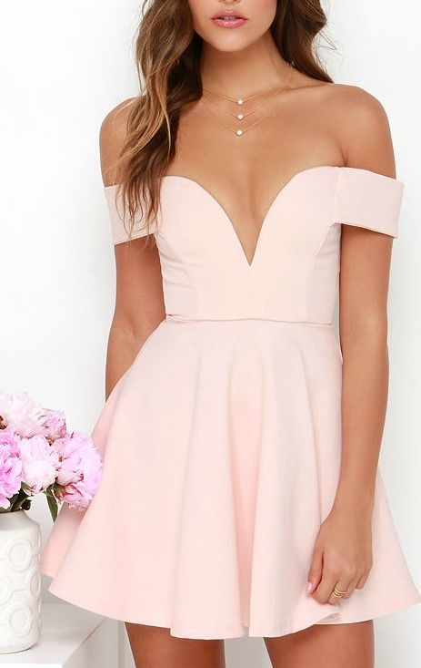 Pink Prom Dresses Elegant Short Prom Dress Off The