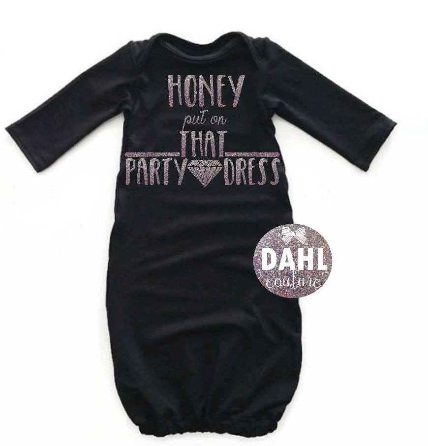 Baby gown-Honey put on that party dress black gown,baby birthday ...