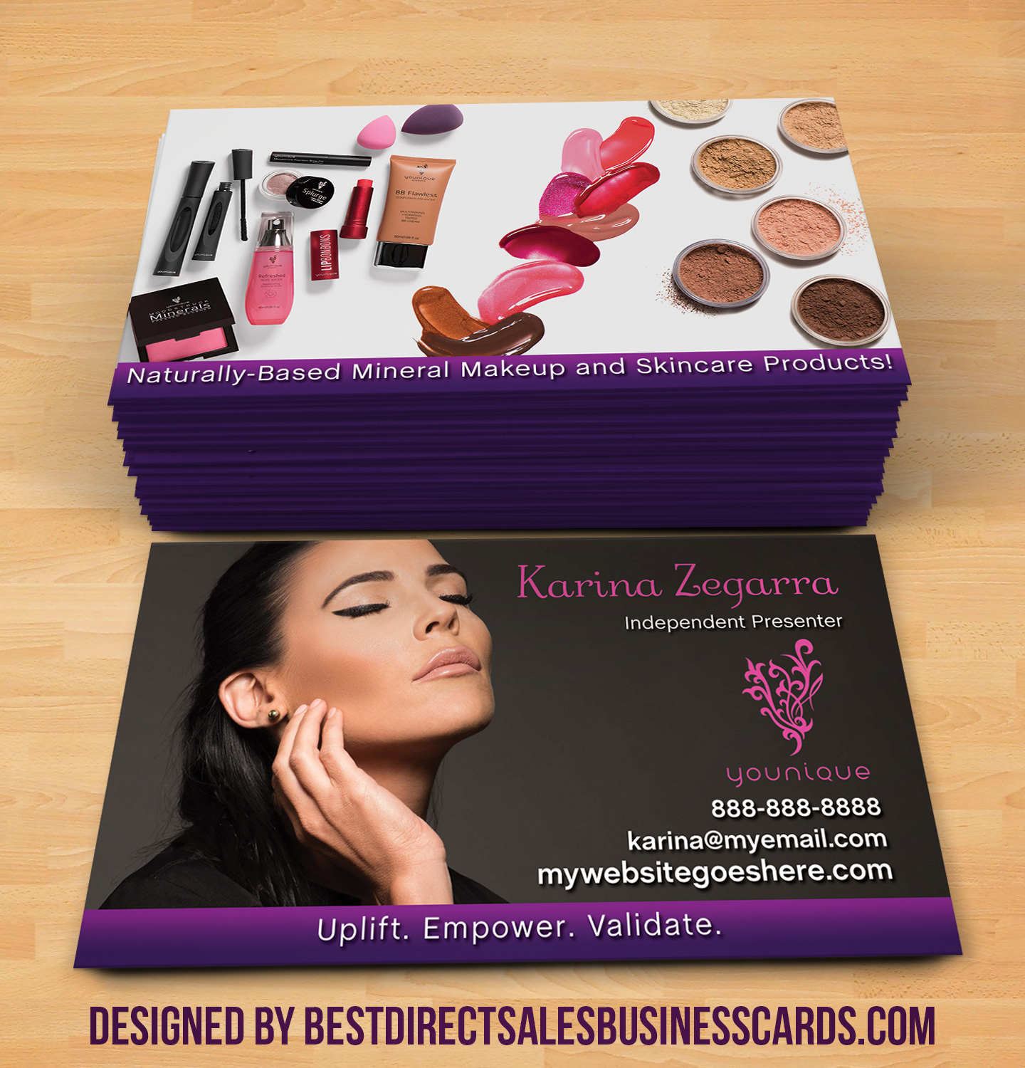 younique business cards 4 - Younique Business Cards