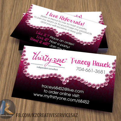 Thirty one Business Cards 4 KZ Creative Services Online Store