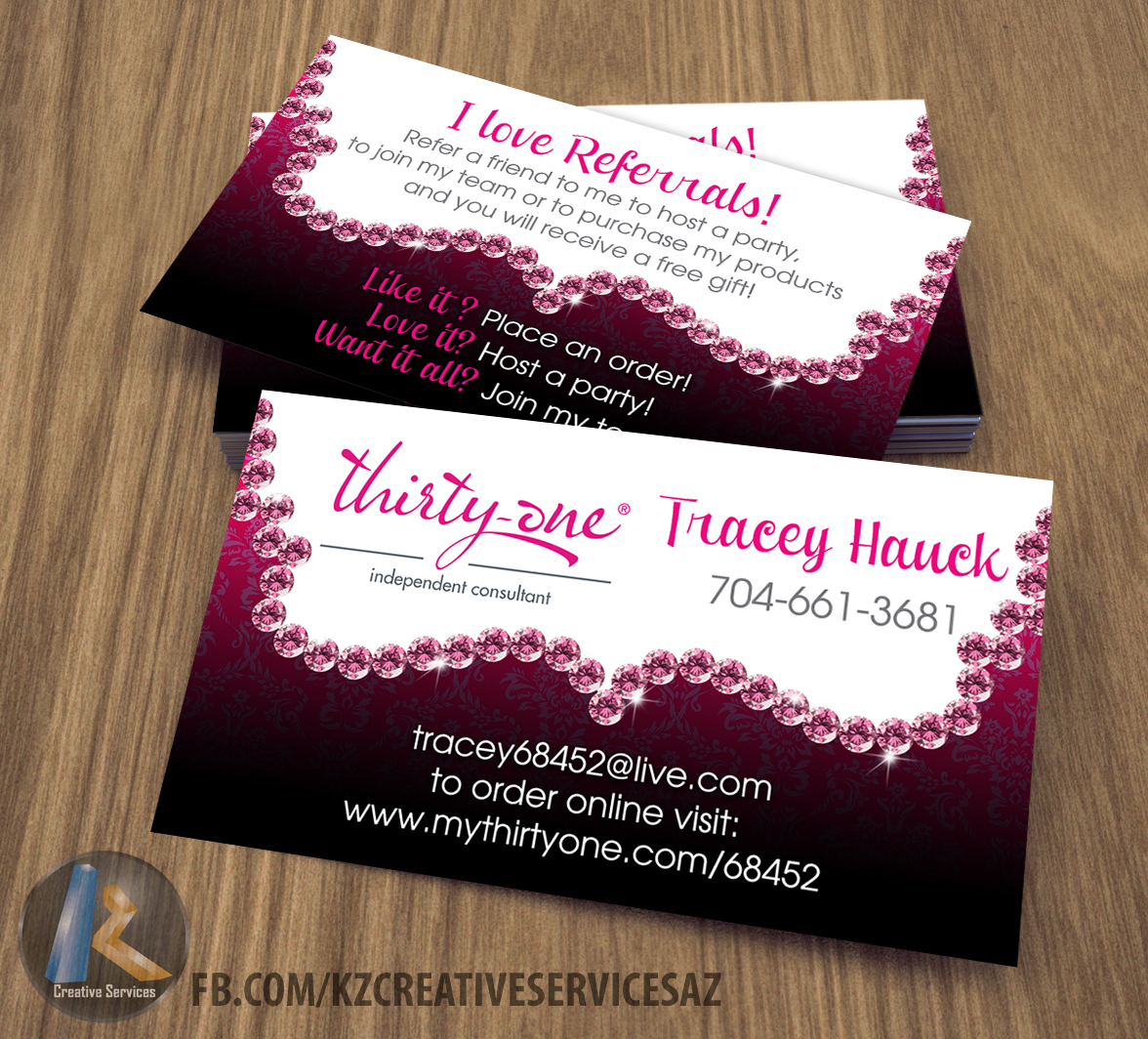 Thirty one Business Cards - 4 · KZ Creative Services · Online Store ...