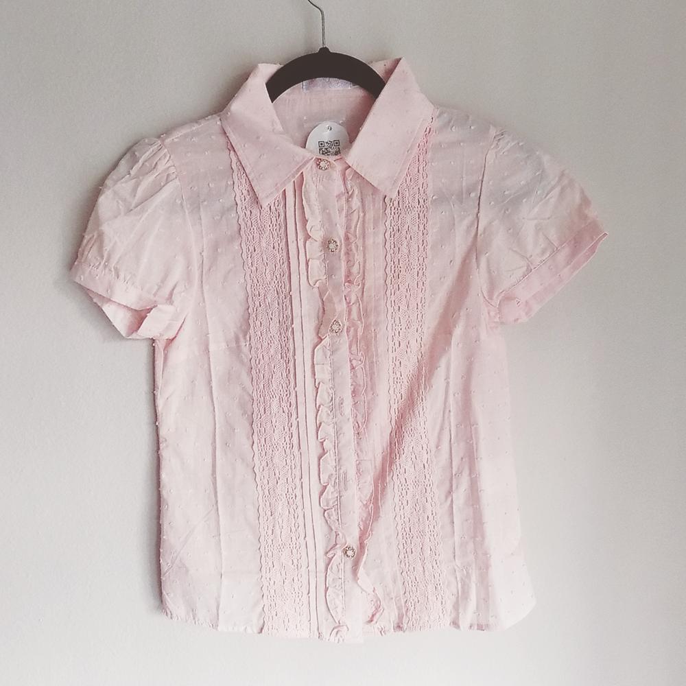Bobon21 Baby Pink Button Down Blouse Pastel Wardrobe