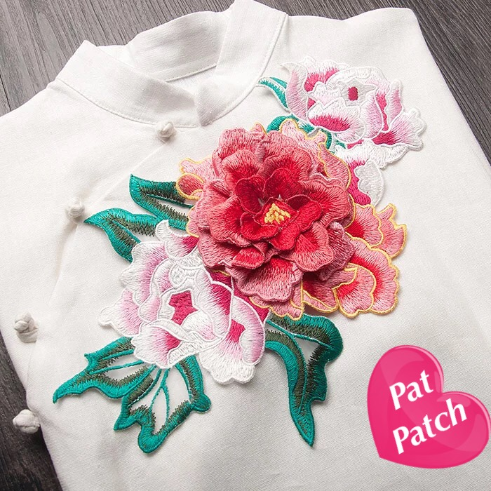 3D FLOWER EMBROIDERY PATCH