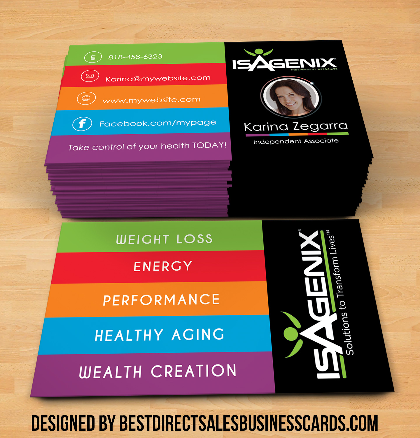 ISAGENIX Business Cards style 4 · KZ Creative Services · line