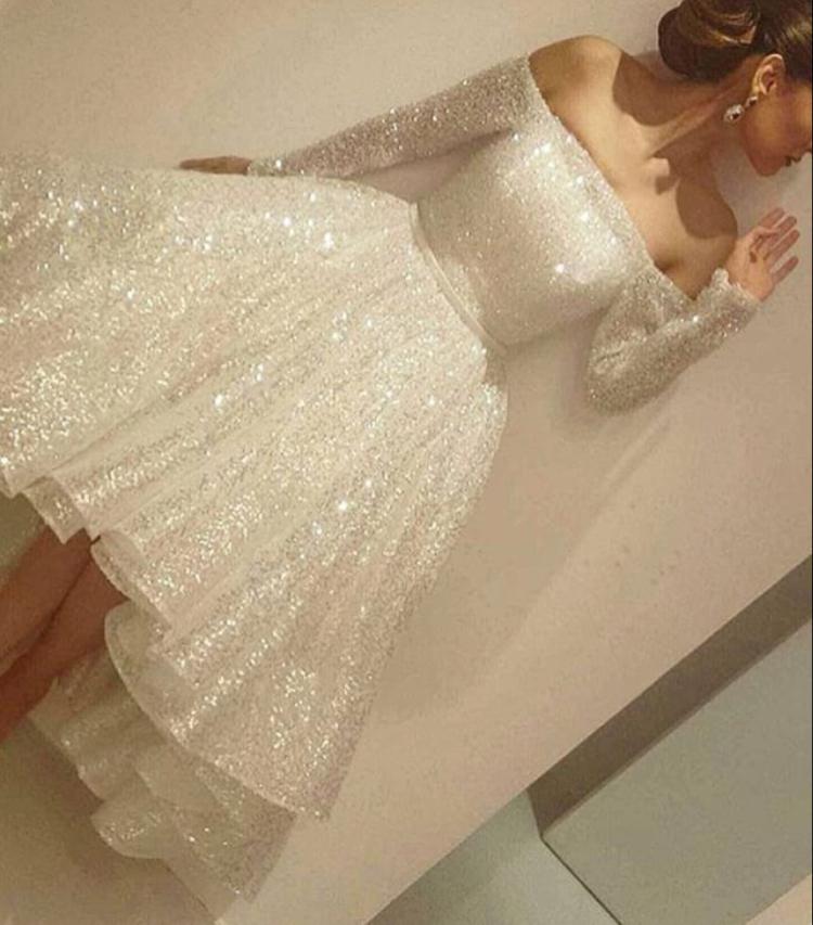 White Short Prom Dresses