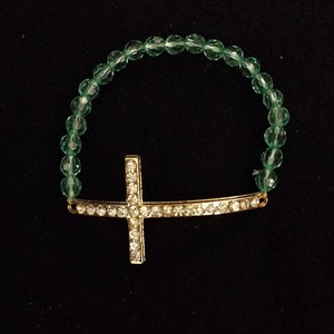 Mint Green Cross Brecelet