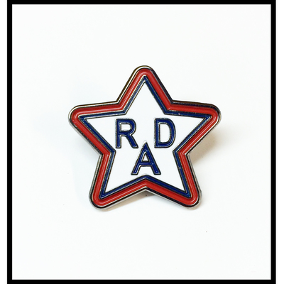 Rad racing lapel pin