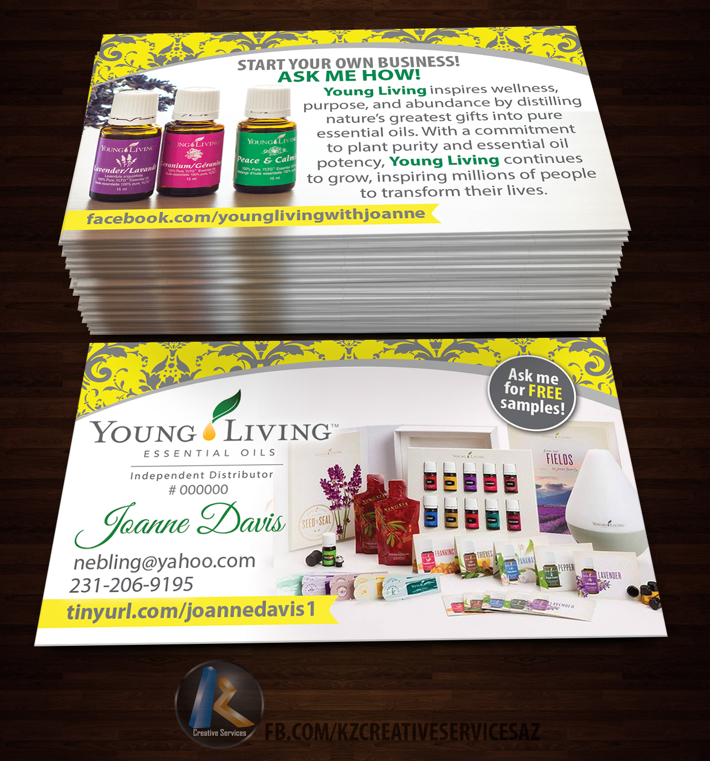 Young living business card 5 kz creative services online store young living business card 5 colourmoves
