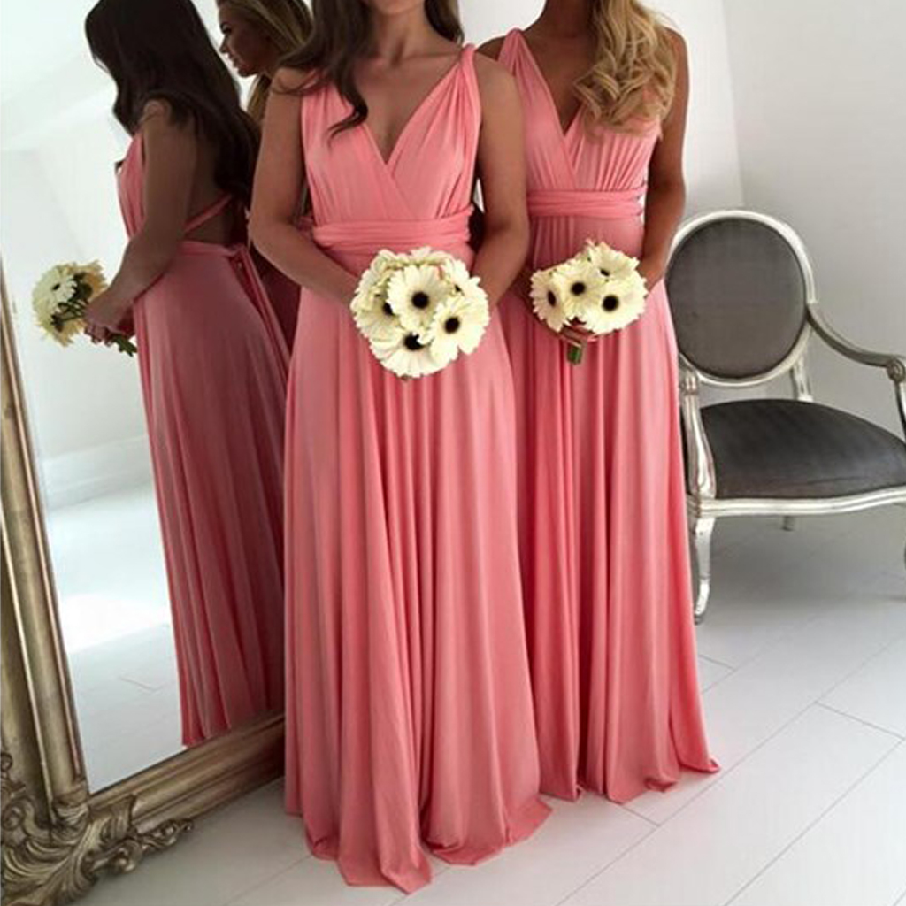 Simple Cheap Bridesmaid dresses, Jersey Convertible Open Back Sexy ...
