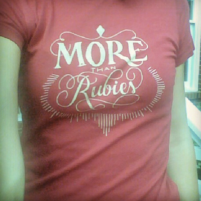 More than rubies ladies shirt