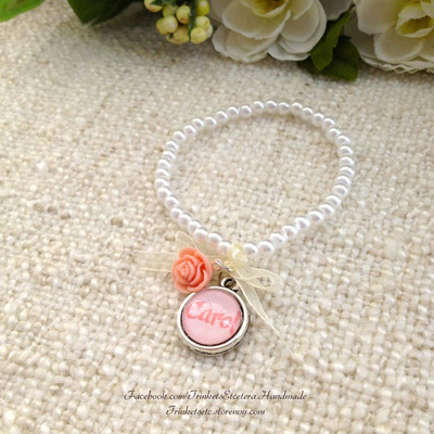"Customise your ""carol"" flower girl bracelet"