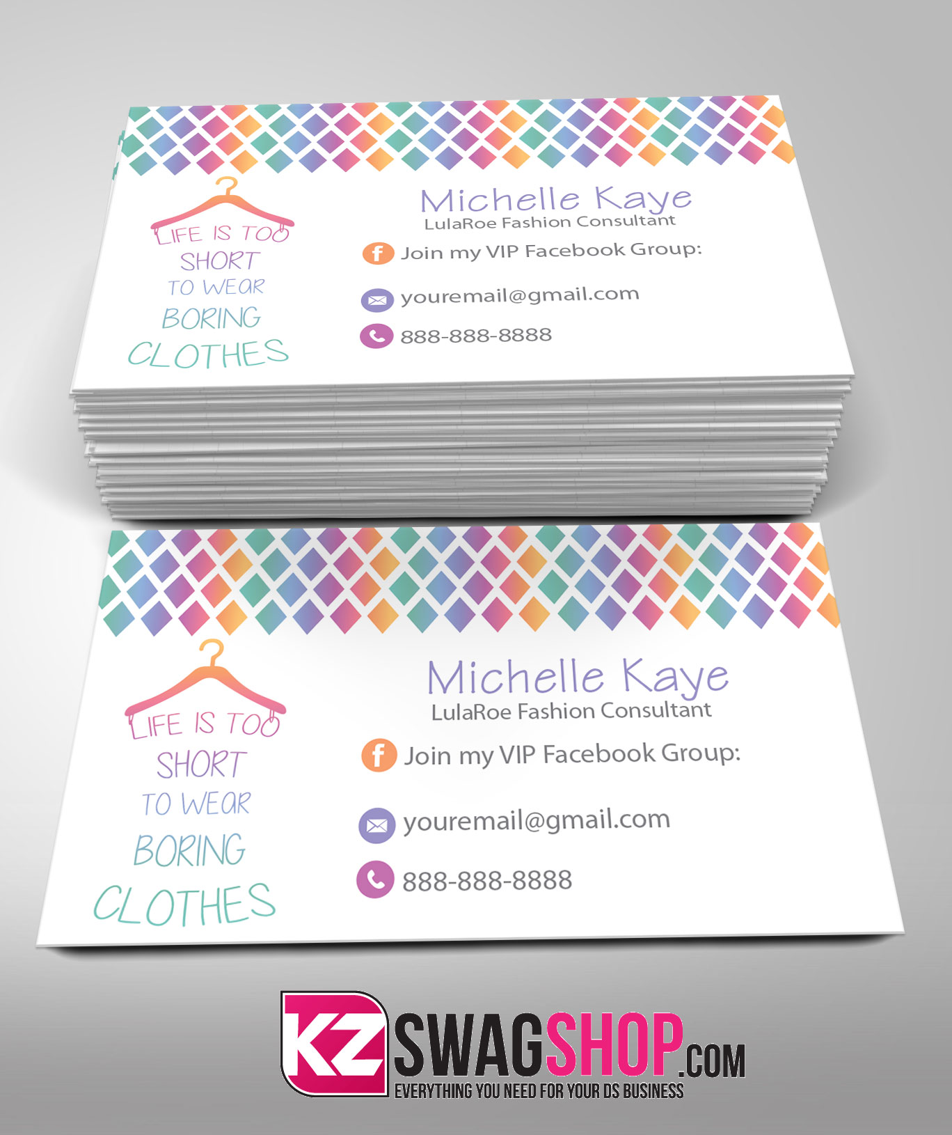 LulaRoe Business Cards 7 · KZ Creative Services · line Store