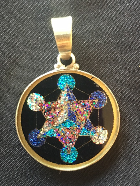 Metatron 39 s cube sacred geometry pendant rainbows of for Metatron s cube jewelry