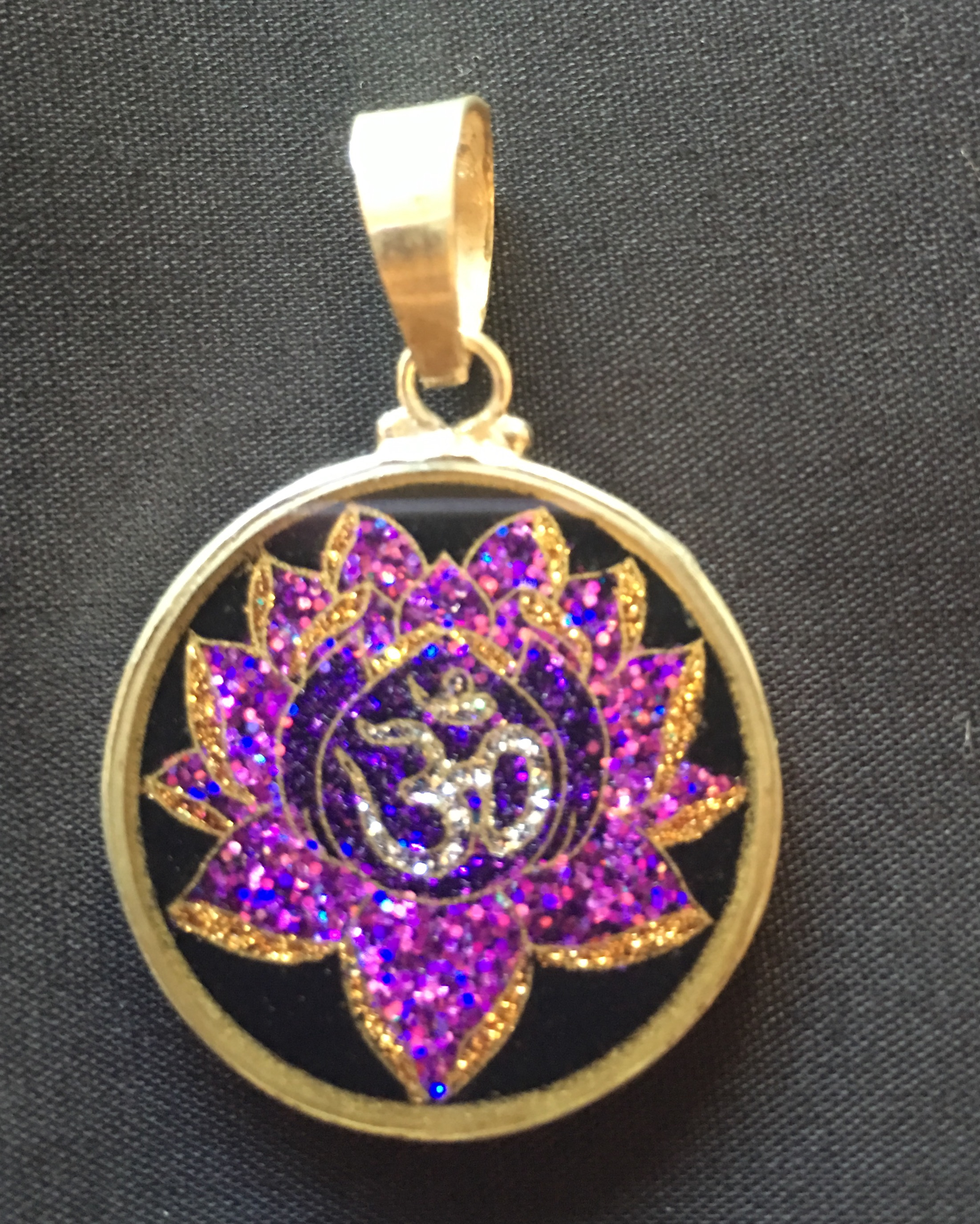 Om lotus sacred geometry pendant rainbows of healing boutique om lotus sacred geometry pendant aloadofball Gallery