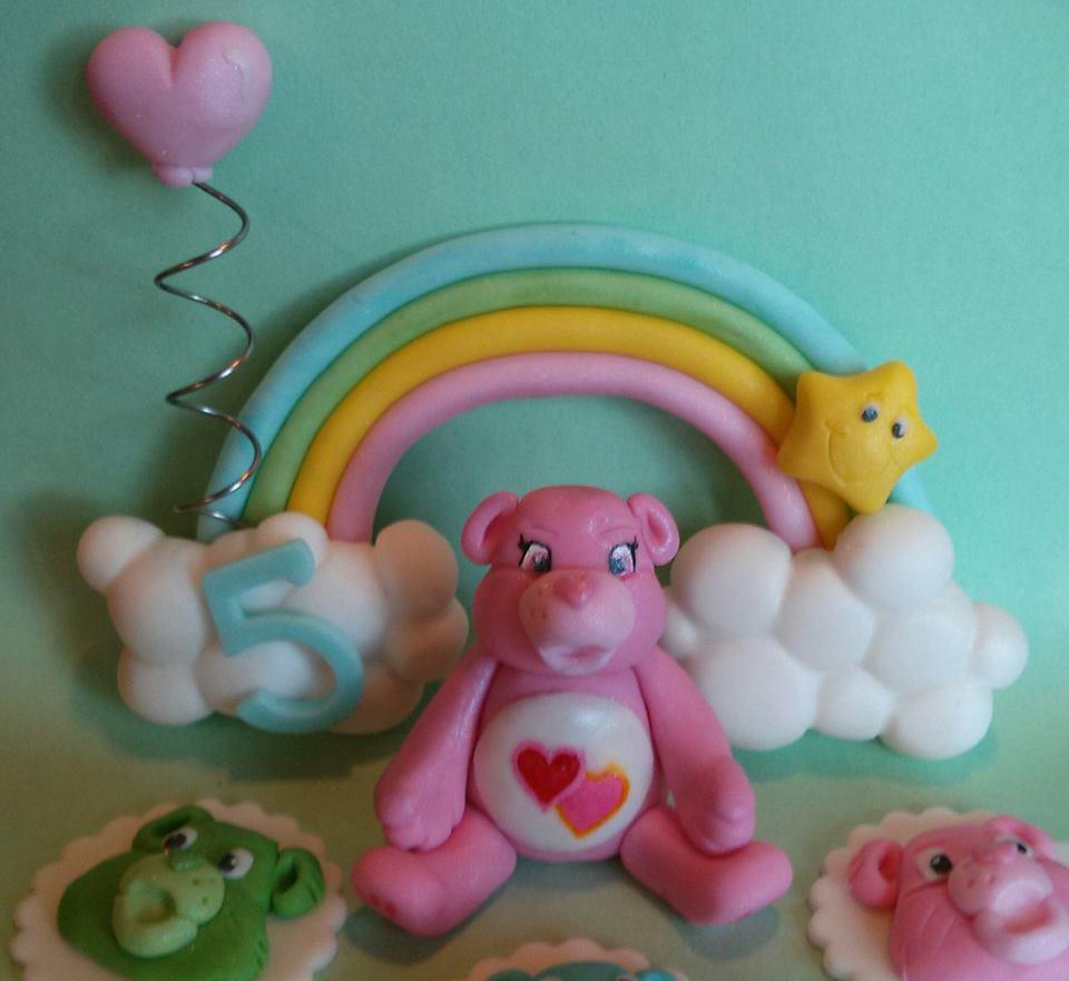 The Sweets Fairy Bakeshop | Fondant Care Bear Cake Topper ...