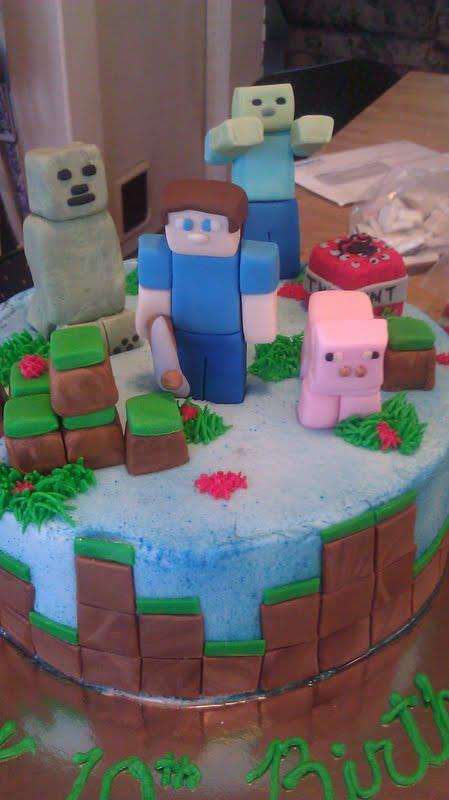Fondant Minecraft Cake Topper Set 13 Pieces