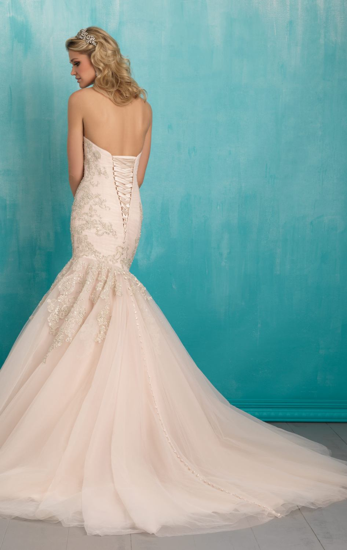 A54 Sweetheart Beading Wedding Gowns Mermaid Dress Long Chapel Train Dresses