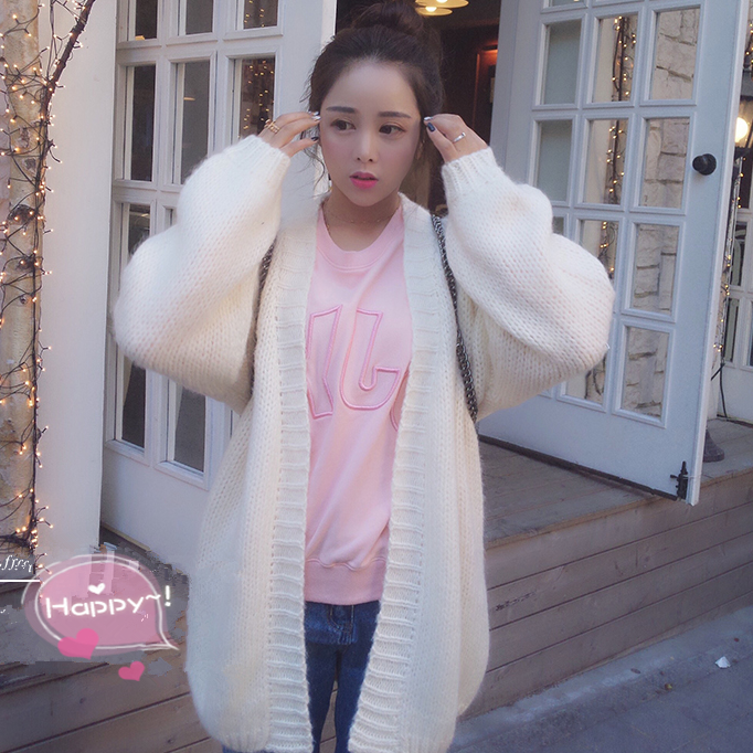 Korea's sweet college wind cardigan sweater coat · Cute Kawaii ...