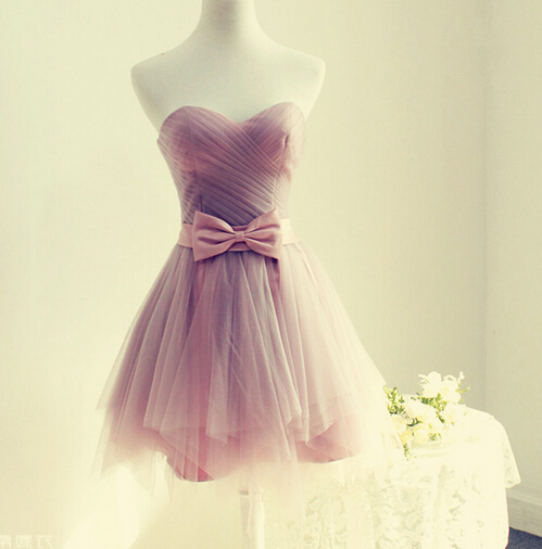 Cute Short Tulle A-line Prom Dress,Party Dress For Teens, Lovely ...