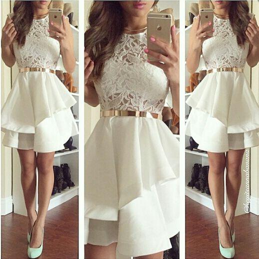 Charming Prom Dress,Short Prom Dress,Lace Graduation Dress ...