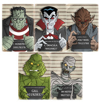 Monster Mug Shots 4x6 Set