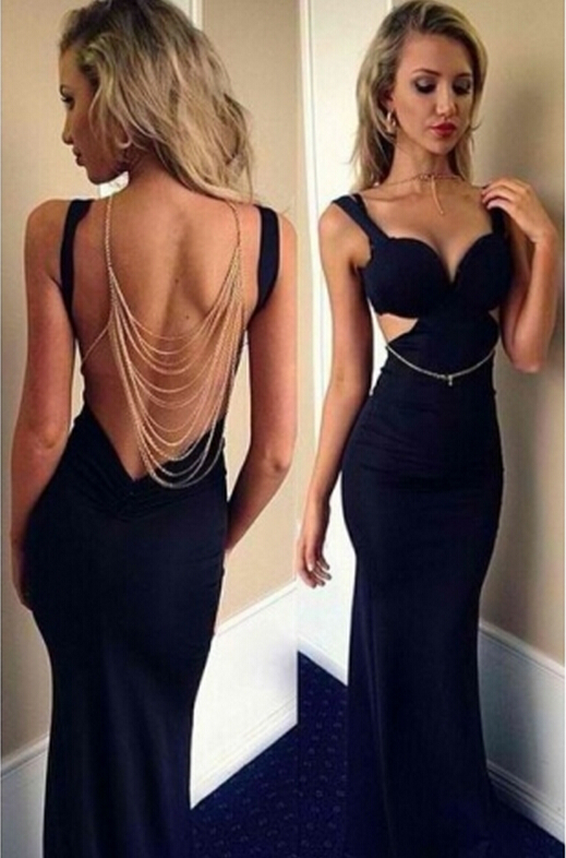 Mermaid navy prom dress, online prom dress, beautiful prom dress ...