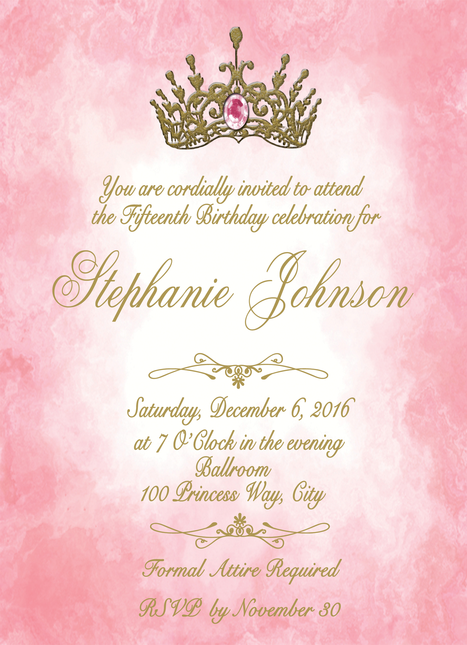 Princess Photo Quinceanera or Sweet 16 Personalized Birthday ...